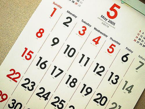 Calendar Travel Dates