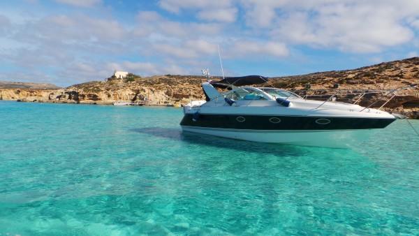 Blue lagoon, Comino, Malta, Yacht